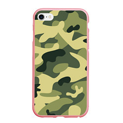 Чехол iPhone 6/6S Plus матовый Камуфляж: зеленый/хаки цвета 3D-баблгам — фото 1
