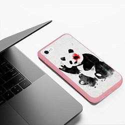Чехол iPhone 6/6S Plus матовый Рок-панда цвета 3D-баблгам — фото 2
