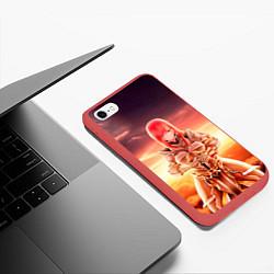 Чехол iPhone 6/6S Plus матовый Fairy Tail цвета 3D-красный — фото 2