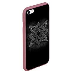 Чехол iPhone 6/6S Plus матовый Звезда Сварога цвета 3D-малиновый — фото 2