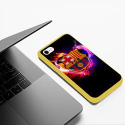 Чехол iPhone 6/6S Plus матовый Barcelona7 цвета 3D-желтый — фото 2