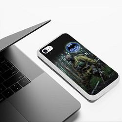 Чехол iPhone 6/6S Plus матовый Военная разведка цвета 3D-белый — фото 2