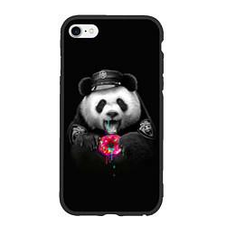 Чехол iPhone 6/6S Plus матовый Donut Panda цвета 3D-черный — фото 1