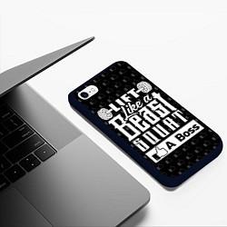 Чехол iPhone 6/6S Plus матовый Lift Like A Beast Squat цвета 3D-черный — фото 2