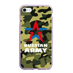 Чехол iPhone 6/6S Plus матовый Russian army цвета 3D-сиреневый — фото 1