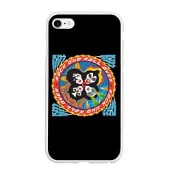 Чехол iPhone 6/6S Plus матовый KISS: Over цвета 3D-белый — фото 1