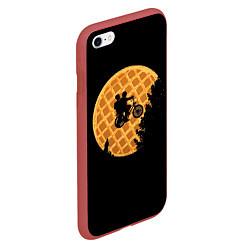 Чехол iPhone 6/6S Plus матовый Wafer Rider цвета 3D-красный — фото 2