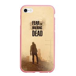 Чехол iPhone 6/6S Plus матовый FtWD: Walking Zombie цвета 3D-баблгам — фото 1
