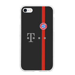Чехол iPhone 6/6S Plus матовый Bayern FC: Black 2018 цвета 3D-белый — фото 1