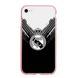 Чехол iPhone 6/6S Plus матовый FC Real Madrid: Black Style цвета 3D-баблгам — фото 1