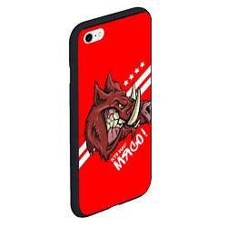 Чехол iPhone 6/6S Plus матовый Кто мы? Мясо! цвета 3D-черный — фото 2