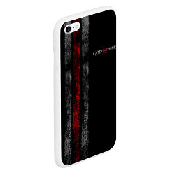 Чехол iPhone 6/6S Plus матовый God of War: Black Style цвета 3D-белый — фото 2