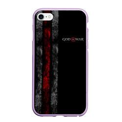 Чехол iPhone 6/6S Plus матовый God of War: Black Style цвета 3D-сиреневый — фото 1