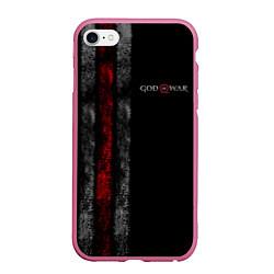 Чехол iPhone 6/6S Plus матовый God of War: Black Style цвета 3D-малиновый — фото 1