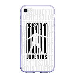 Чехол iPhone 6/6S Plus матовый Cris7iano Juventus цвета 3D-светло-сиреневый — фото 1