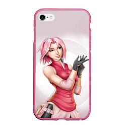 Чехол iPhone 6/6S Plus матовый Сакура Харуно цвета 3D-малиновый — фото 1