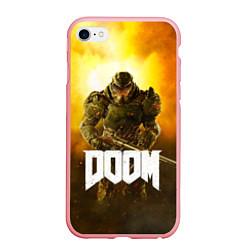 Чехол iPhone 6/6S Plus матовый DOOM: Soldier цвета 3D-баблгам — фото 1