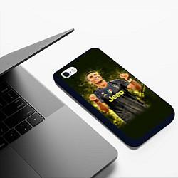 Чехол iPhone 6/6S Plus матовый Ronaldo: Juve Sport цвета 3D-черный — фото 2