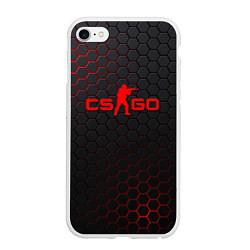 Чехол iPhone 6/6S Plus матовый CS:GO Grey Carbon цвета 3D-белый — фото 1