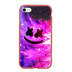Чехол iPhone 6/6S Plus матовый Marshmello Lights цвета 3D-красный — фото 1