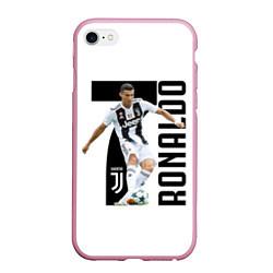 Чехол iPhone 6/6S Plus матовый Ronaldo the best цвета 3D-розовый — фото 1