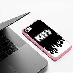 Чехол iPhone 6/6S Plus матовый Kiss цвета 3D-баблгам — фото 2