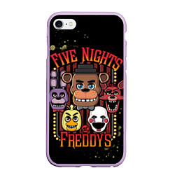 Чехол iPhone 6/6S Plus матовый Five Nights At Freddy's цвета 3D-сиреневый — фото 1
