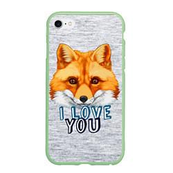 Чехол iPhone 6/6S Plus матовый Милая лисичка! цвета 3D-салатовый — фото 1