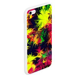 Чехол iPhone 6/6S Plus матовый Кислотный взрыв цвета 3D-белый — фото 2