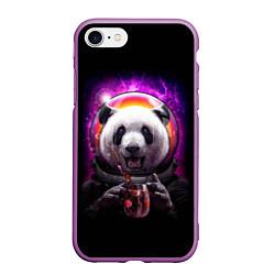 Чехол iPhone 7/8 матовый Panda Cosmonaut цвета 3D-фиолетовый — фото 1