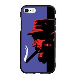 Чехол iPhone 7/8 матовый Fidel цвета 3D-черный — фото 1