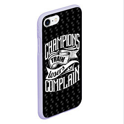 Чехол iPhone 7/8 матовый Champions Train цвета 3D-светло-сиреневый — фото 2