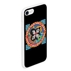 Чехол iPhone 7/8 матовый KISS: Over цвета 3D-белый — фото 2