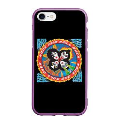 Чехол iPhone 7/8 матовый KISS: Over цвета 3D-фиолетовый — фото 1