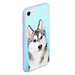Чехол iPhone 7/8 матовый Blue цвета 3D-светло-сиреневый — фото 2