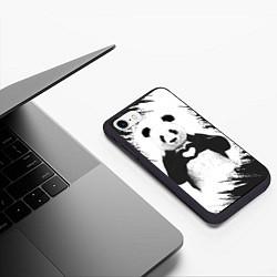 Чехол iPhone 7/8 матовый Panda Love цвета 3D-черный — фото 2