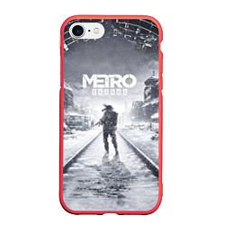 Чехол iPhone 7/8 матовый Metro Exodus цвета 3D-красный — фото 1