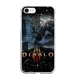 Чехол iPhone 7/8 матовый Diablo III: Catacombs цвета 3D-белый — фото 1