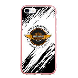 Чехол iPhone 7/8 матовый Harley Davidson цвета 3D-баблгам — фото 1