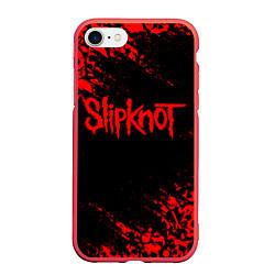 Чехол iPhone 7/8 матовый SLIPKNOT цвета 3D-красный — фото 1