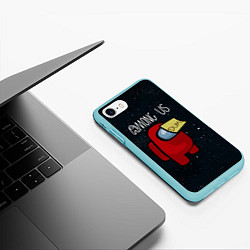 Чехол для iPhone 7/8 матовый с принтом AMONG US, цвет: 3D-мятный, артикул: 10274873705885 — фото 2