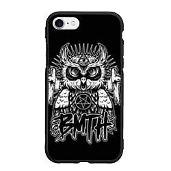 Чехол iPhone 7/8 матовый BMTH Owl цвета 3D-черный — фото 1