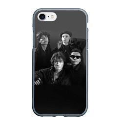 Чехол iPhone 7/8 матовый Группа Кино
