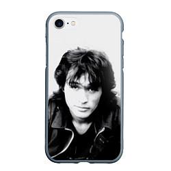 Чехол iPhone 7/8 матовый Кино: Виктор Цой