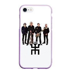Чехол iPhone 7/8 матовый Группа Пикник цвета 3D-сиреневый — фото 1