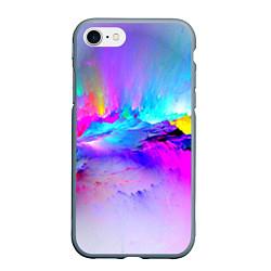 Чехол iPhone 7/8 матовый Абстракция цвета 3D-серый — фото 1