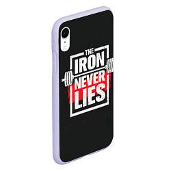 Чехол iPhone XR матовый The iron never lies цвета 3D-светло-сиреневый — фото 2