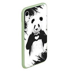 Чехол iPhone XR матовый Panda Love цвета 3D-салатовый — фото 2