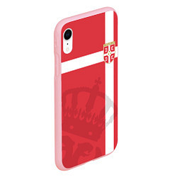 Чехол iPhone XR матовый Сборная Сербии цвета 3D-баблгам — фото 2