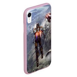 Чехол iPhone XR матовый ANTHEM цвета 3D-розовый — фото 2